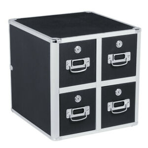 Vaultz Cd File Cabinet And Storage Cd Folder Organizer Lock Case Box 4 Drawer
