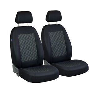 Car Seat Covers For Volkswagen Polo Front Seats Black Grey 3d Effect