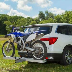 Trailer Hitch Motorcycle Carrier Dirtbike Mount Rack Ramp Hauler Bike Aluminum