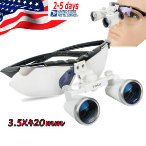 Dental Loupes Surgical Medical Binocular 3 5x 420mm Setting Target Easily