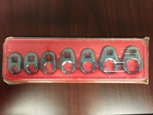Snap On 7 Pc 3 8 Drive 6 point Sae Flank Drive Flare Nut Crowfoot Wrench Set