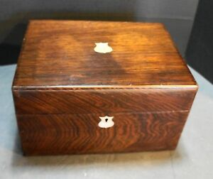 English Rosewood Ladies Dressing Box C 1890