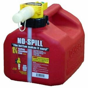 No spill Gas Can Fuel Container Diesel Jug 1 25 gallon Portable With Button