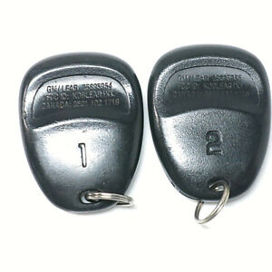 2 Oem Gm 01 04 Corvette Keyless Entry Remote Key Fob Transmitter Driver 1