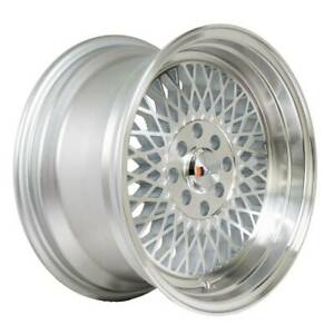 4 New 15 F1r F01 Wheels 15x8 4x100 4x114 3 25 Machine Silver Polish Lip Rims