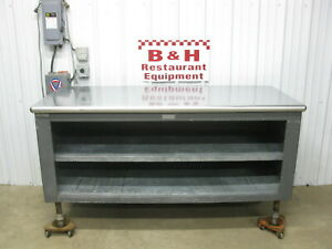 72 X 30 Stainless Steel Top Heavy Duty Bakery Work Prep Table Cabinet 6