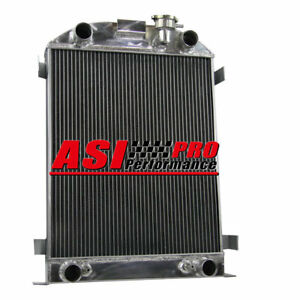 4 Row Core Aluminum Radiator For 1932 Ford Flathead Engine V8 Stock Height Pro