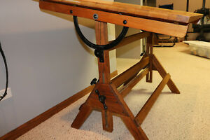 Vintage 1920 s Hamilton Drafting Table