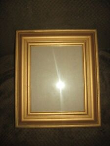 Vintage Antique Wooden Picture Frame Deep Set Shadow Box Style 8in X10in Glass