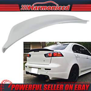 Fits 08 17 Lancer Evo X Jdm Painted a37 Wicked White Trunk Spoiler Wing