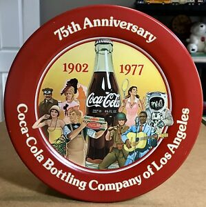 Vtg 1977 Coca Cola Bottling Company 75th Anniversary Plaque Plate Los Angeles
