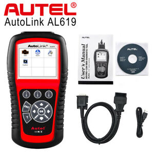 Autel Autolink Al619 Obd2 Can Auto Diagnostic Tool Code Reader Scanner Srs Abs