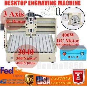 400w 3 Axis 3040 Router Engraver Engraving Milling Drilling Machine Carving Hot