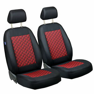 Car Seat Covers For Toyota Yaris Front Seats Black Red 3d Effect