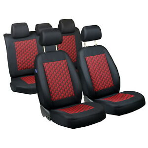 Car Seat Covers For Toyota Yaris Full Set Black Red 3d Effect