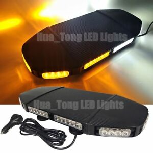 20 In Light Bar 48 Led Warning Emergency Traffic Advisor Roof Strobe Amber White