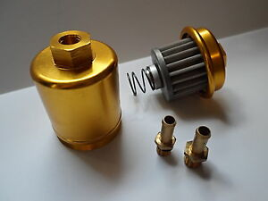 High Flow Washable Fuel Filter Fit For Honda Acura B18 B16 D15 D16 H22 F22 Gold