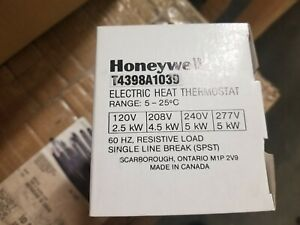 Honeywell Electric Heat Thermostat T4398a1039