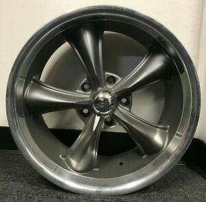 Boss 338 Series 18x8 5x5 Aluminum 1 piece Gray