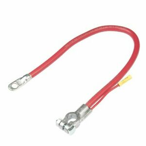 25 Inch Red 2 Gauge Top Post Battery Cable With 4 Inch 12 Gauge Leads