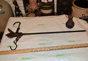 1800 S T Beddows Iron Scale Steelyard Farm Store Tobacco Wool Goods Mercantile
