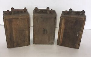 3 Antique Ford Model T A Wood Box Battery Ignition Coil Steam Punk Auto Car Art