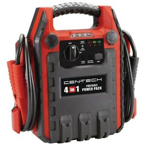 4 in 1 Portable Car Battery Charge Jump Starter Box Booster With Air Compressor