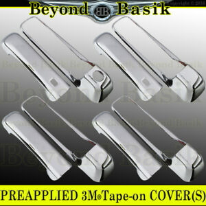 For 2009 2018 Dodge Ram 1500 Triple Chrome Door Handle Covers W 2 Smart Keyholes
