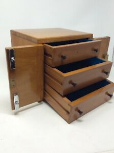 Solid Maple Vintage Collectors Cabinet Height 22 X 24 5 X W20 Cms