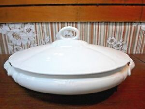 White Anchor Pottery American Ironstone Covered Tureen