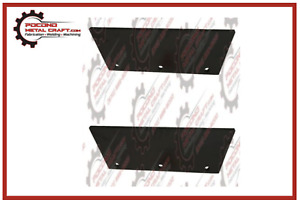 Western Snow Plow Blade Edges Set Steel Wide out Wideout Replacement Set 57865