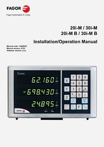 Fagor Digital Read Out Dro 18 x40 For Mill