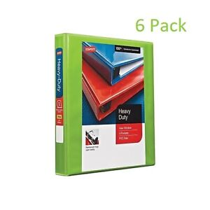 6pk 6 Pack Staples Heavy Duty 1 3 ring View Binder Chartreuse Lime Green School