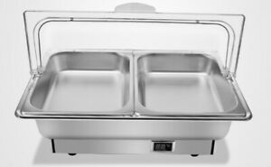 2 Pan Catering Stainless Steel Chafer Chafing Dish Electric Warmer 110v Party