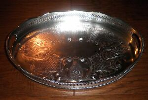 Gorgeous Cheltenham Silver Company Silver Plated Serving Butler S Tray