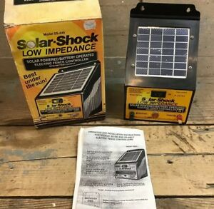 Solar shock Model Ss 440 Solar Powered battery Operated Electric Fence Controll