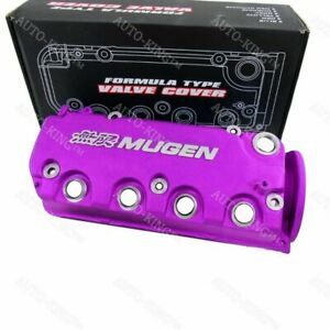 Purple Mugen Style Engine Valve Cover For 1992 1995 Honda Civic D16y7 Sohc Vtec