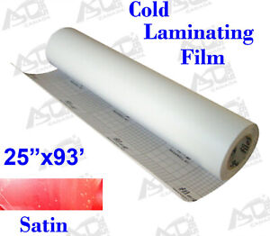 0 69x31yd Satin Matt Adhesive Glue Vinyl Cold Laminating Film Us Free Shipping