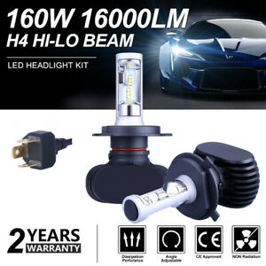 2pcs H4 Cree Led Headlight Car 9003 Hb2 180w 6500k Replace Hi Lo Beam Bulb Lamp