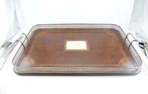 Huge Sterling Silver Gallery Tray Marquetry Inlay Goodnow Jenks Ca 1900 Guc