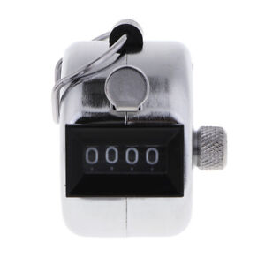 Metal Hand Tally Counter Hand Held Clicker 4 Digit Number Clicker 0000 9999