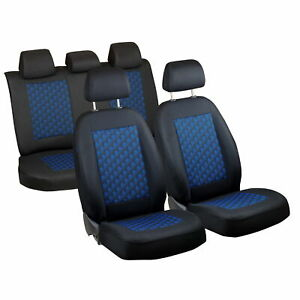 Car Seat Covers For Toyota Yaris Full Set Black Blue 3d Effect