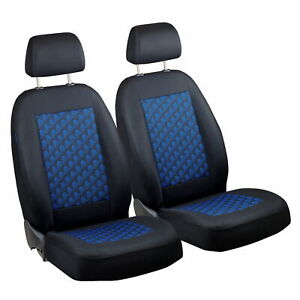 Car Seat Covers For Vw Volkswagen Fox Front Seats Black Blue 3d Effect