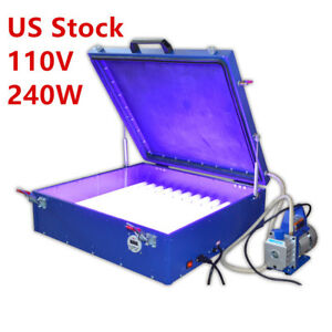 Usa 110v Vacuum Exposure Unit 24 x26 Precise Screen Printing Compressor Outside