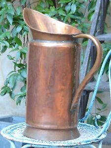 19th Century Antique French Copper Watering Can Rustic Garden