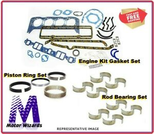 Chevy 350 5 7 Psngr 1967 79 Engine Re Ring Overhaul Kit Rings Rod Brgs Gaskets