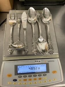 Wallace Sir Christopher 6 Pieces Sterling Silver Serving Spoons Gravy More 489g