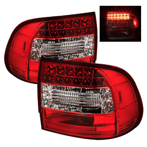 2003 2006 Porsche Cayenne 955 Spyder Auto Led Tail Lights Taillights Red Clear