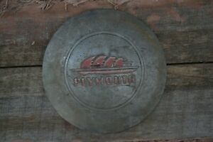Vintage 1940s 1950s Plymouth Hubcap