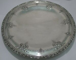 Beautiful Round Sterling Silver Old Master Tray By Towle 377 1g 10 25 54513